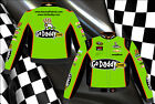 Danica Patrick Nascar Jacket Go Daddy Lime Green Twill Jacket Adult NEW