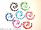 Neon Stripe Spiral Acrylic Taper / Ear Stretcher  - 6 Sizes  - 7 Colours