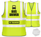 Kids Children's Funny Bus Driver In Training Safety Hi Vis Viz Vest + gift box