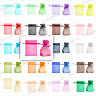 20/40/60/100 Strong Organza Gift Bags Wedding Jewelry Pouch Wholesale 20 Color