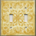 Light Switch Plate Cover - Home Decor - Tuscan Tile Pattern - Sunflower Yellow