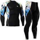 FIXGEAR C2L-SET-B19B Skin-tight Compression Under Base layer Shirt & Pants Gym