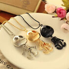 Lovely UFO Style Robots Skeleton Chain Necklace Pendant 3Color To Choose