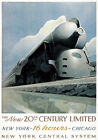TX208 Vintage New York Central Railroad Railway Travel Poster Re-Print A2/A3