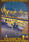 TX219 Vintage Florence Rome Express French Railway Travel Poster Re-Print A4
