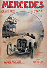 AV83 Vintage 1908 Mercedes Grand Prix Racing Advertisement Poster Re-print A4