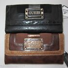 GUESS by Marciano Angie Logo Purse Wallet Large Black Brown New