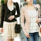 Celeb Style Puff Sleeve Crop Tunic Blazer Jacket Coat T058