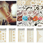 Flower Poker Lip Temporary Tattoo Transfer Body Art Sticker Waterproof Removable