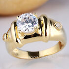 Men's Fashion Gold Filled Ring Size 7mm Stone Decoration for Boyfriend