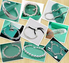 WHOLESALE MANY STYLES JEWELRY SILVER CHARM BRACELET 925BANGLE CHAIN FIT GIFT 18K