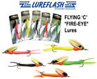 FLYING 'C' *FIRE-EYE* Salmon & Sea Trout Fishing Lures Save 70%! Packs of 5-10..