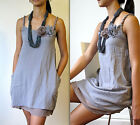 New - Natural Sundress Dress in cool Gray
