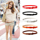 Brandnew Women's Candy Color PU Leather Belt Fashion Twist Waistband Wholesale