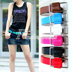 Candy Color Girl Fashion Belt Leather Simple WomenWaistband PU Brandnew