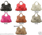 New Ladies Womens Designer Leather Floral Bag Summer Handbag Celebrity Style