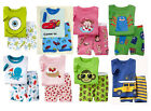 2013 Hot the infant children boys and girls pajamas T-shirt + shorts.2T-7T