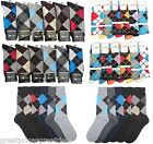 6 12 Pairs Mens Argyle Designer Focus Premium Dress Socks #XZFocus 9-11 10-13