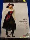Gold Doubloon Pirate Caribbean Wench Fancy Dress Up Halloween Sexy Adult Costume