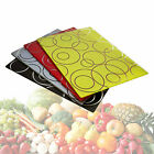 Chopping Cutting Board Stylish Glass Circle Colour Kitchen Vegetables Fruit Food