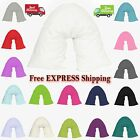V Shaped Pillow Case Orthopedic Pregnancy Back & Neck Support Pillow Case 73x34