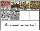 3mm Round Metal Beads 100 Choose Color and Style