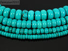 Stabilized Turquoise Gemstone Rondelle Spacer Beads 16'' 4mm 6mm 8mm 10mm 12mm