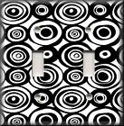 Light Switch Plate Cover - Bold Black And White Circles - Home Decor