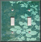 Light Switch Plate Cover - Floral Leaves - Teal - Modern Home Decor