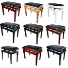 Piano Stool - Deluxe Height Adjustable Bench - Satin Polished - Legato