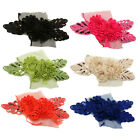 Sequin Chiffon Flower Trim Lace 93 - Hair Accessories Clip Headbands Millinery