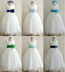 IVORY TURQUOISE AQUA SKY NAVY BLUE INFANT TODDLER BRIDAL PARTY FLOWER GIRL DRESS