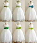 IVORY JADE SAGE APPLE KELLY GREEN BABY TODDLER WEDDING PARTY FLOWER GIRL DRESS