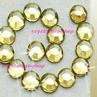 Jonquil Yellow Iron On Flatback Hotfix Rhinestone Crystal Glass Nice Diam​ante