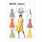 Butterick 4443 Sewing Pattern to MAKE Dress w/Flared Skirt & Fitted Bodice