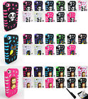 PANDA or OWL or MONKEY TUFF HARD CASE COVER FOR APPLE IPHONE 4 4S +FILM+STYLUS