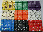 9 Dice Choose your Colours 22mm Spot Dice Games RPG NEW