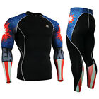 FIXGEAR CPD-SET-B37 Skin-tight Compression Under Base layer shirt & leggings kit