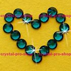 Blue Zircon Iron On Flatback Hotfix Rhinestones Crystal Glass Bling Diam​ante