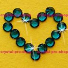 Blue Zircon Iron On ( Hotfix ) Flatback Crystal Glass Bling Diam​ante Rhinestone