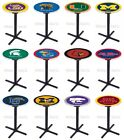 Choose NCAA K-M Team 42 Tall L211 Black X Style Base Pub Bar Table - 28 / 36 Top
