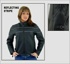 Ladies Leather Jacket with Zip Out Lining & Vents Sizes Small to 3XL New 7900-SS