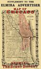 CHICAGO ILLINOIS (IL) FIRE BURNT DISTRICT MAP 1871