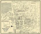 Old City Map - Tucson Arizona Landowner - 1870 - 27.75 x 23