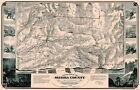 Old County Map - Sierra County California - USGS 1874 - 35.88 x 23