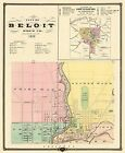 Historic City Maps - BELOIT AND SHULLSBURG WISCONSIN (WI) LANDOWNER MAP 1878