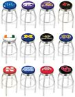 Choose NCAA K-O Team L8C3C Chrome Single-Ring Swivel Bar Stool w / Ribbed Accent