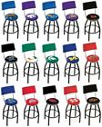 Choose Your NCAA K-O Team L8B4 Black Single-Ring Swivel Bar Stool w / Seat Back