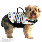 Nautical Dog Life Preserver Jacket Water Safety Flotation Vest