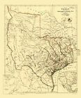 Old State Map - Republic of Texas - Arrowsmith 1841 - 23 x 27.78